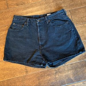 Vintage Gap Black mom Jean Shorts Button Fly, 12